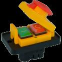 Кнопка вкл/выкл 4 контакта, для бетономешалок, компрессоров, сверлильных станков.