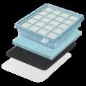 Комплект фильтров для пылесоса PHILIPS PowerPro Compact и Active, fc8058/01/hpl86