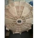 Задняя часть бака стиральной машины Атлант, сальник 30-52-8,5/10,5, подшипники 6205 и 6204,